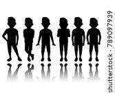 boy silhouette in different... | Shutterstock . vector #789097939