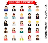 collection of people head flat... | Shutterstock .eps vector #789098215