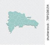 dominican republic map   high... | Shutterstock .eps vector #789108154