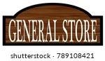 general store stylish wooden... | Shutterstock .eps vector #789108421