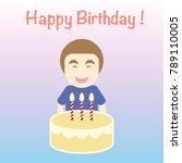 happy birthday card   simple...   Shutterstock .eps vector #789110005