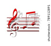 music violin clef sign. g clef... | Shutterstock .eps vector #789112891