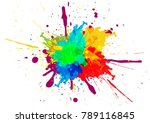 abstract splatter color...