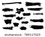 small set of grunge stripes ... | Shutterstock .eps vector #789117025