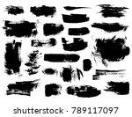 set of black vector brush... | Shutterstock .eps vector #789117097