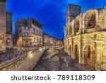 Roman Amphitheatre At Dusk In...
