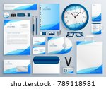 modern blue business stationery ...   Shutterstock .eps vector #789118981