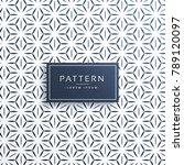 clean minimal geometric pattern ... | Shutterstock .eps vector #789120097