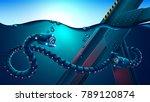autonomous underwater robot... | Shutterstock .eps vector #789120874