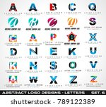 collection of creative logo... | Shutterstock . vector #789122389