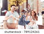 beautiful family is spending... | Shutterstock . vector #789124261