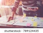 asian business man hand holding ... | Shutterstock . vector #789124435