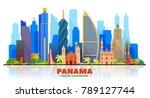 panama city   panama   skyline...   Shutterstock .eps vector #789127744