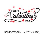 happy valentines day with... | Shutterstock .eps vector #789129454