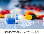 close up view of drug powder of ...   Shutterstock . vector #789130471
