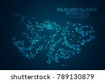 abstract mash line and point... | Shutterstock .eps vector #789130879