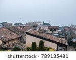 roofs of a typical village on... | Shutterstock . vector #789135481
