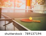 tabletennis  and balls on table. | Shutterstock . vector #789137194