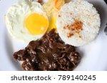 tapsilog breakfast   typical... | Shutterstock . vector #789140245