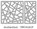 set template for cutting.... | Shutterstock .eps vector #789141619