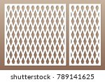 set decorative card for cutting.... | Shutterstock .eps vector #789141625
