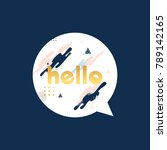 hello lettering message bubble | Shutterstock .eps vector #789142165