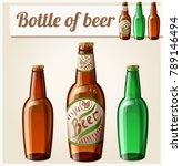 bottle of beer. detailed icon.... | Shutterstock . vector #789146494