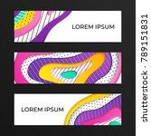 abstract geometrical papercut...   Shutterstock .eps vector #789151831