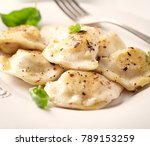 polish pierogi with cabbage and ...   Shutterstock . vector #789153259