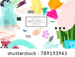abstract universal art web... | Shutterstock .eps vector #789153961