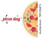 pizza day concept.   Shutterstock .eps vector #789156871