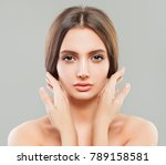 young healthy woman with clear... | Shutterstock . vector #789158581
