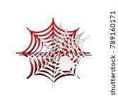 spider on web illustration.... | Shutterstock .eps vector #789160171