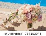 wedding bouquet for the bride...   Shutterstock . vector #789163045