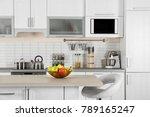 modern kitchen interior with...   Shutterstock . vector #789165247