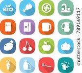 flat vector icon set   bio... | Shutterstock .eps vector #789169117