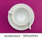 coffee empty cup on purple... | Shutterstock . vector #789169924
