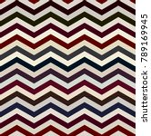 the twin dark and white zigzag... | Shutterstock .eps vector #789169945