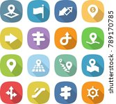 flat vector icon set   pointer... | Shutterstock .eps vector #789170785