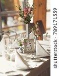 luxury wedding setting table in ...   Shutterstock . vector #789171559