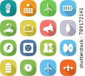 flat vector icon set   bulb... | Shutterstock .eps vector #789172141