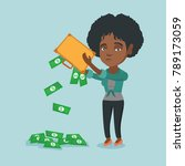 depressed african penniless... | Shutterstock .eps vector #789173059