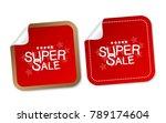 super sale stickers   Shutterstock .eps vector #789174604