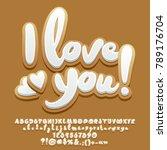 vector gingerbread cookie card... | Shutterstock .eps vector #789176704