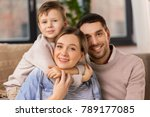 family  portrait and people... | Shutterstock . vector #789177085