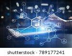 industry 4.0 concept  smart... | Shutterstock . vector #789177241