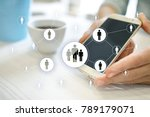 human resource management  hr ... | Shutterstock . vector #789179071
