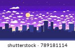 pixel art game background with... | Shutterstock .eps vector #789181114