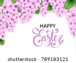 easter vector frame with... | Shutterstock .eps vector #789183121