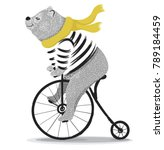 Cute Bear With Bicycle.circus...